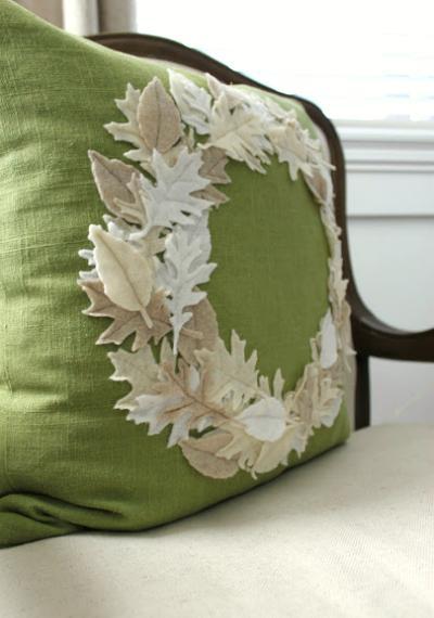 Создаем необычную подушку в осеннем стиле