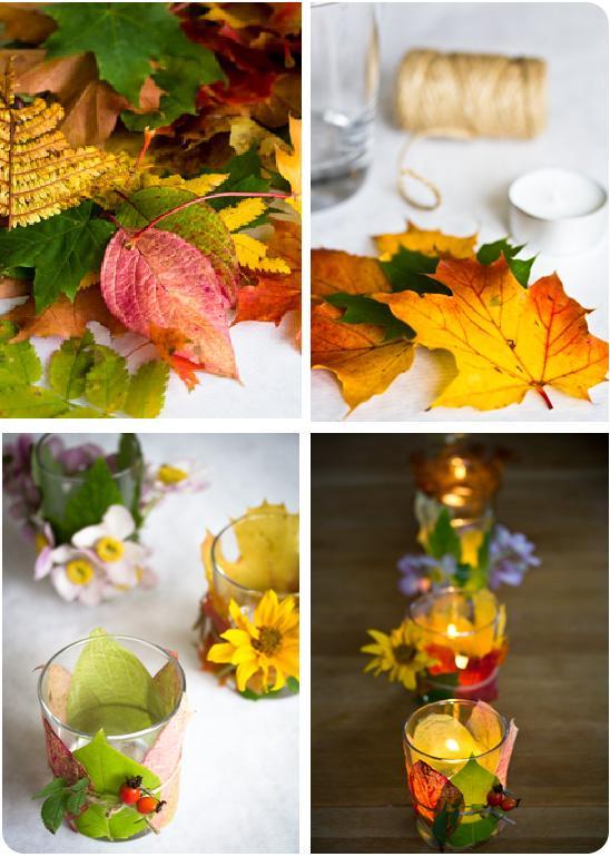 Осенние поделки из посуды