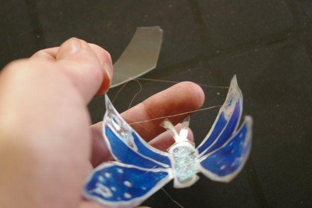 Необычная подвеска из бабочек