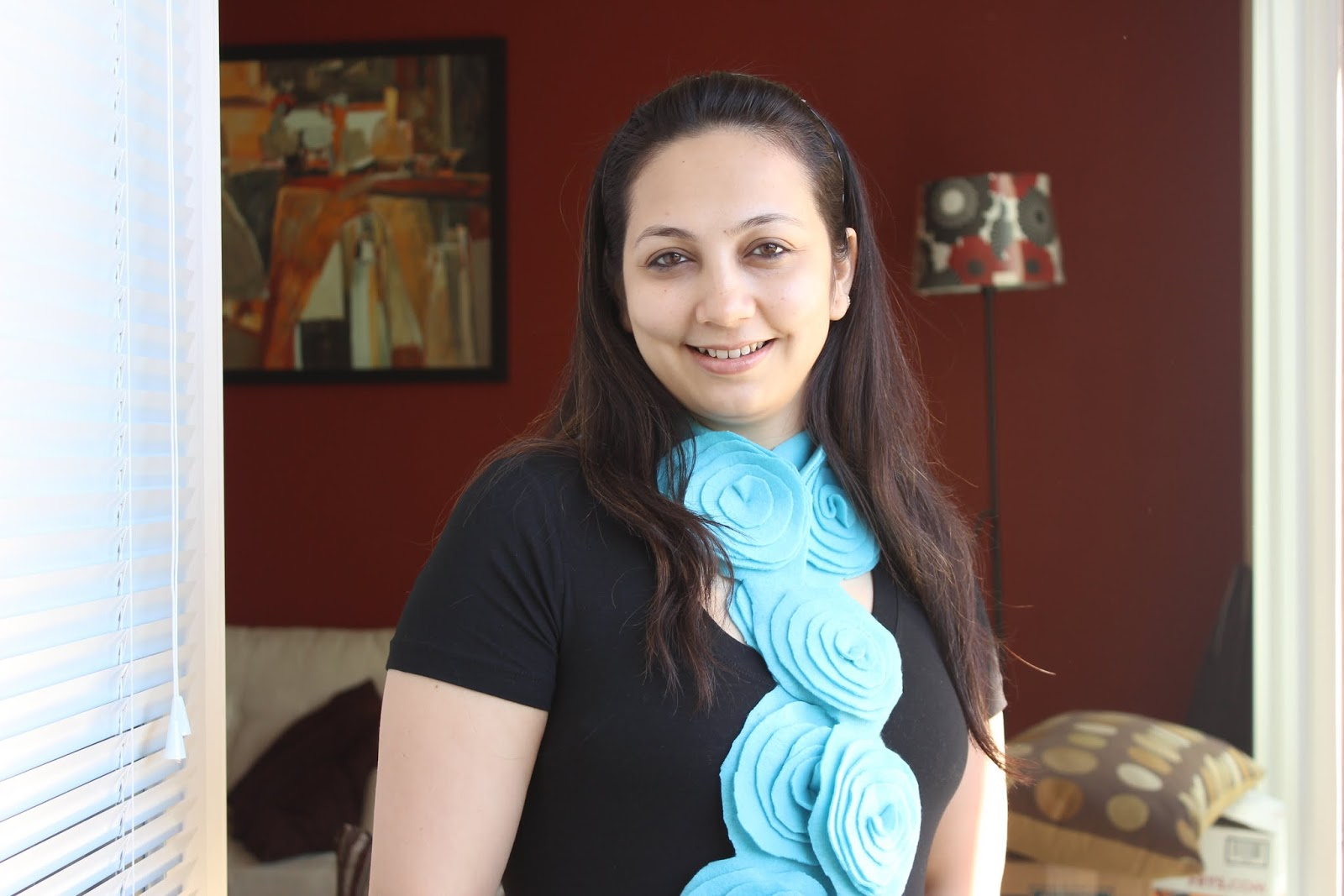 Цветочный шарф своими руками