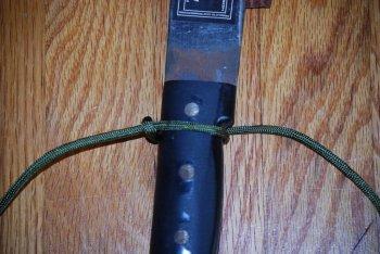 Как оплести рукоять кинжала или ножа