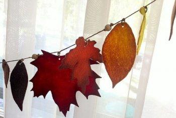 Осенняя гирлянда из ткани