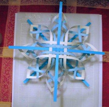 Объемная снежинка к Новому году