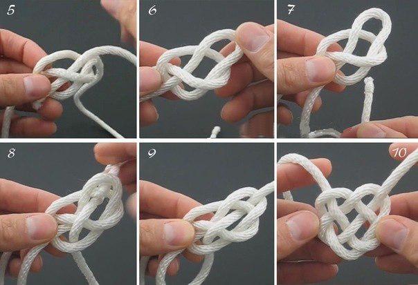 Как сделать узел в виде сердца