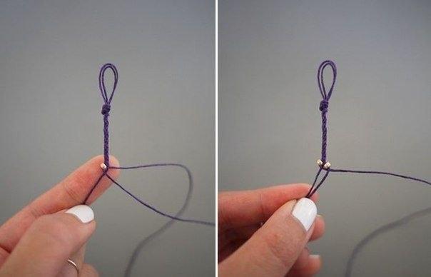Очень простой браслет из бисера