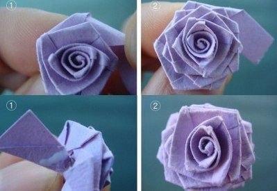 Розы из бумаги для красивого букета