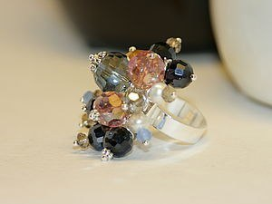 Элегантное кольцо из бусин своими руками