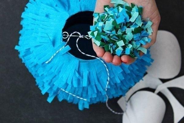 Декоративный шар из бумаги с секретом
