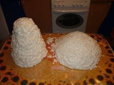 Декоративный гриб из монтажной пены
