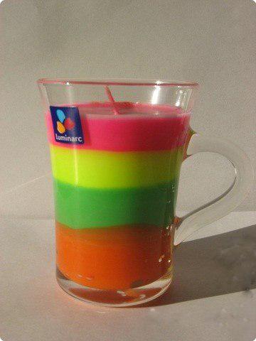 Разноцветные свечи своими руками