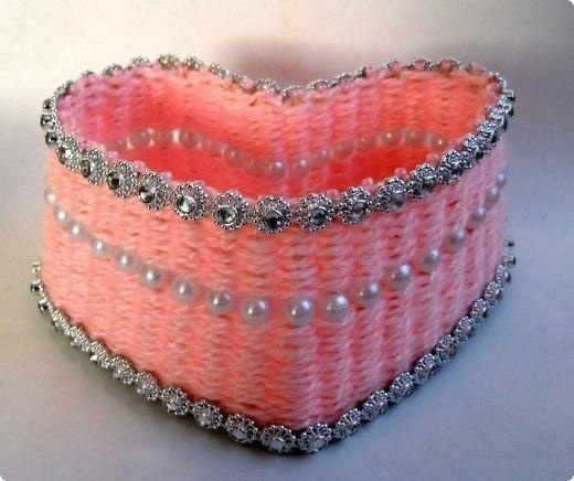 Плетение шкатулки из вязальных ниток