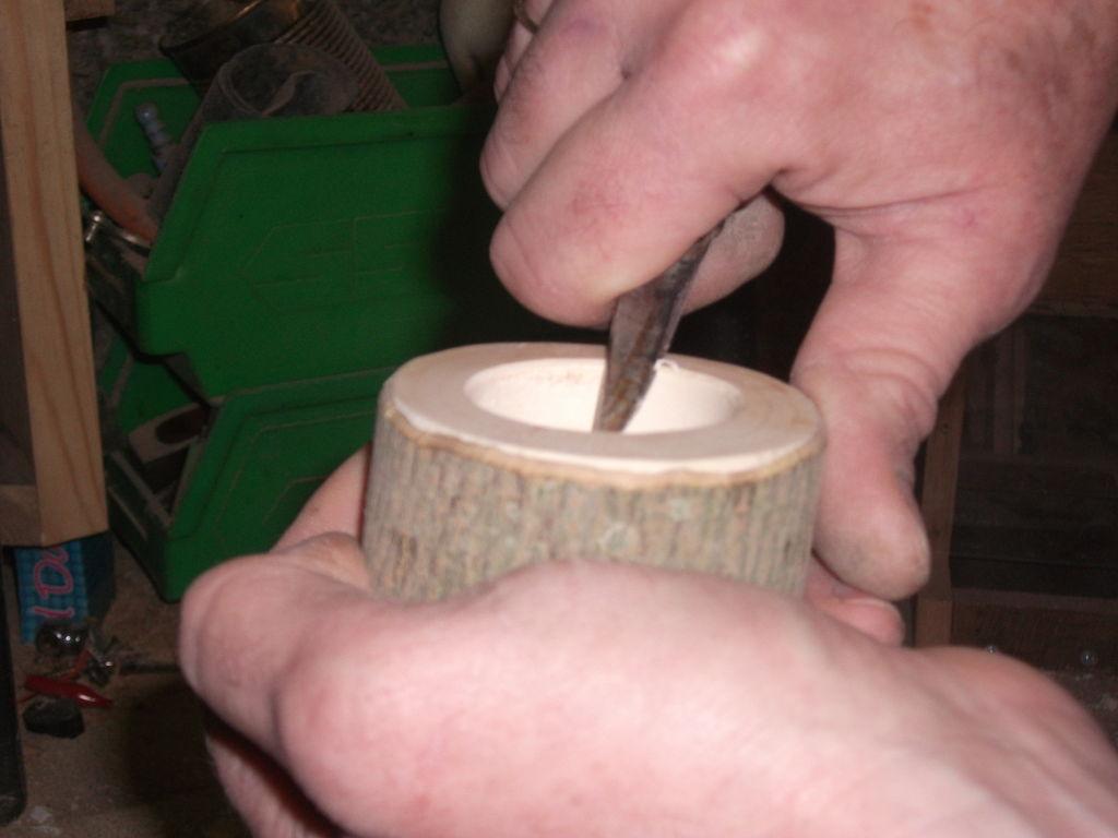 Стильные подсвечники из дерева своими руками