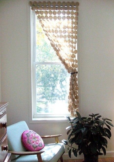 Стильная и воздушная штора своими руками