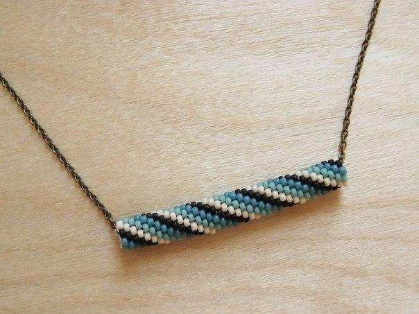 Необычное ожерелье из бисера своими руками