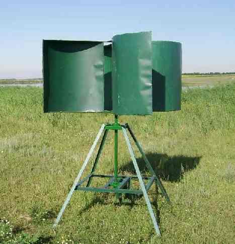 Самодельная вертикальная ветроустановка