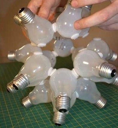 Как сделать светильник из лампочек