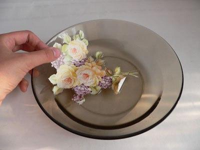 Техника декупажа тарелки