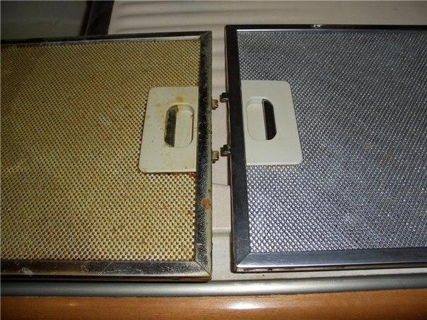 Как отмыть фильтр вытяжки