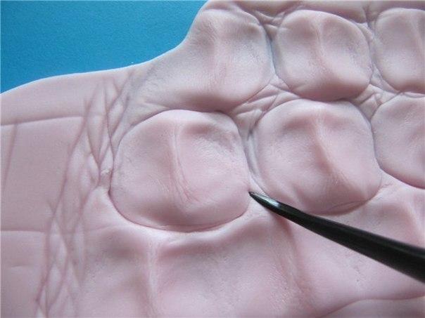 Имитация крокодиловой кожи из полимерной глины