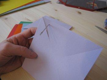 Светильник в виде бумажных вертушек