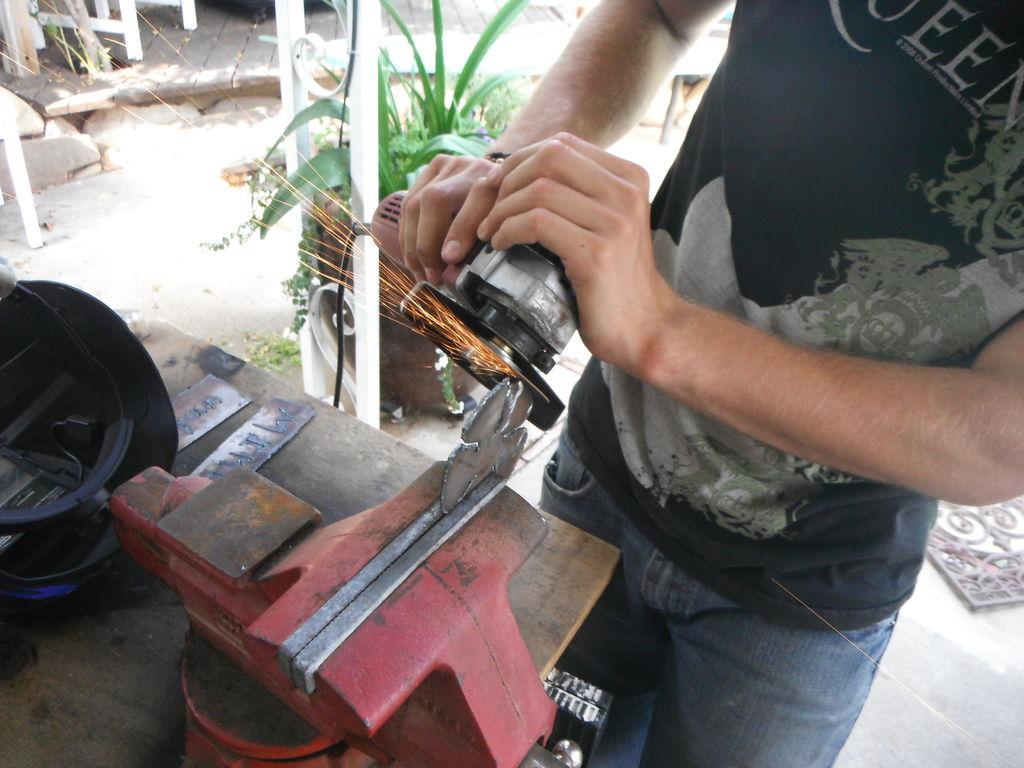 Как сделать металлическую розу