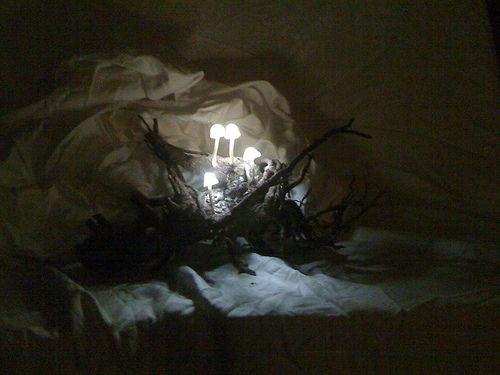 Изготовляем ночную лампу в форме грибов