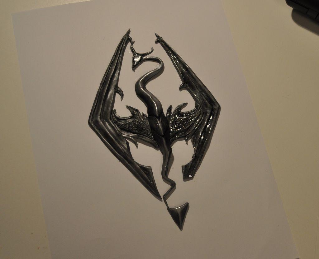 Создаем логотип игры Скайрим для лэптопа