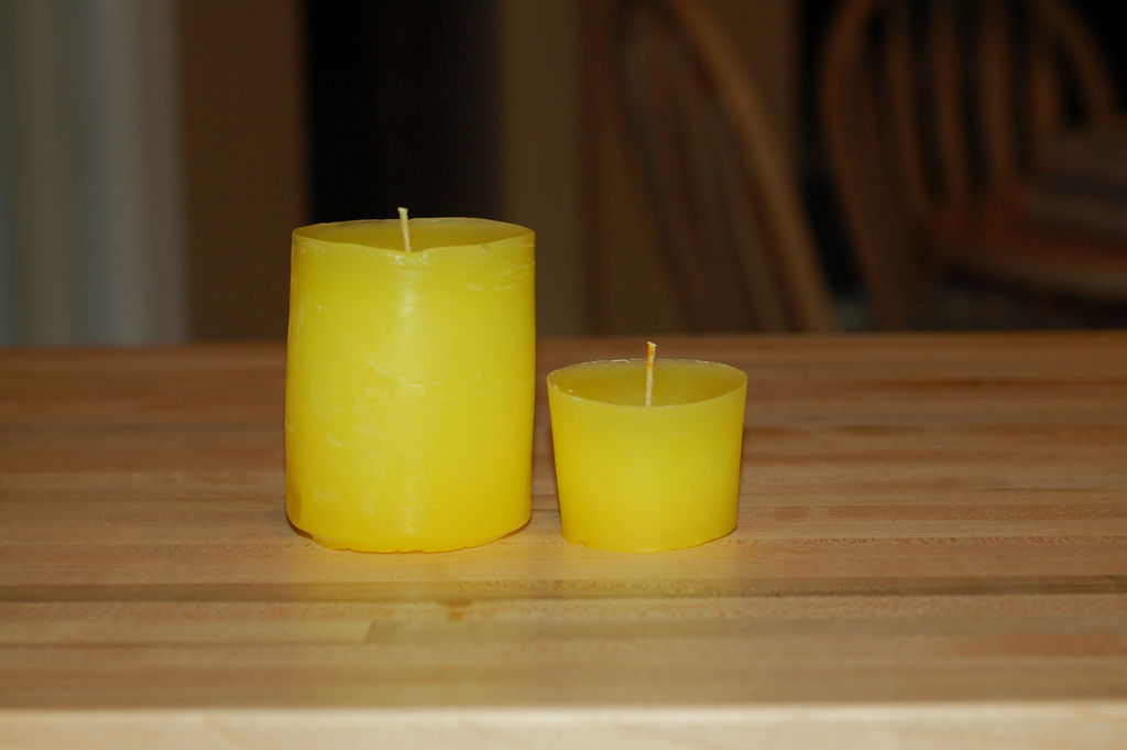 Простые свечи своими руками
