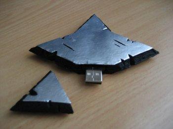 Делаем USB-флешку в форме сюрикэна