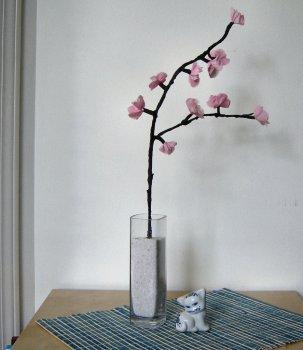 Как создать светильник в виде цветущей вишни