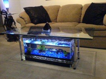 Как сделать столик-аквариум