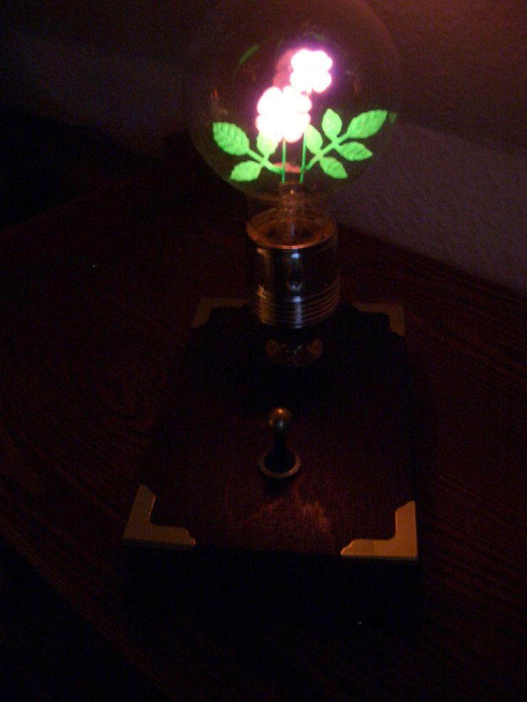 Цветочная лампа своими руками