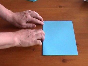 Простая открытка раскладушка
