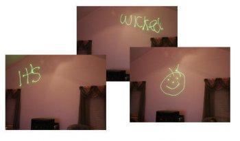 Рисунки при помощи лазерной указки