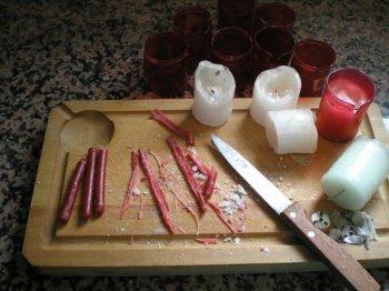 Как сделать пещерные свечки