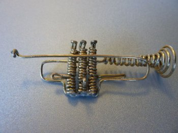 Духовая труба из проволоки своими руками