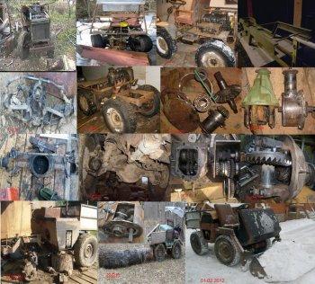 Трактор из москвича 412