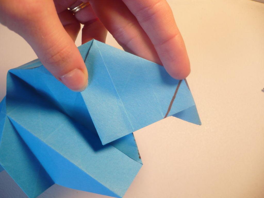 Оригами — Голубая роза