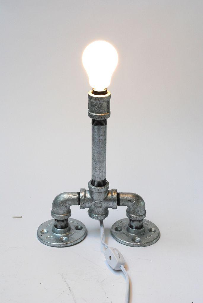 Лампа из трубы своими руками