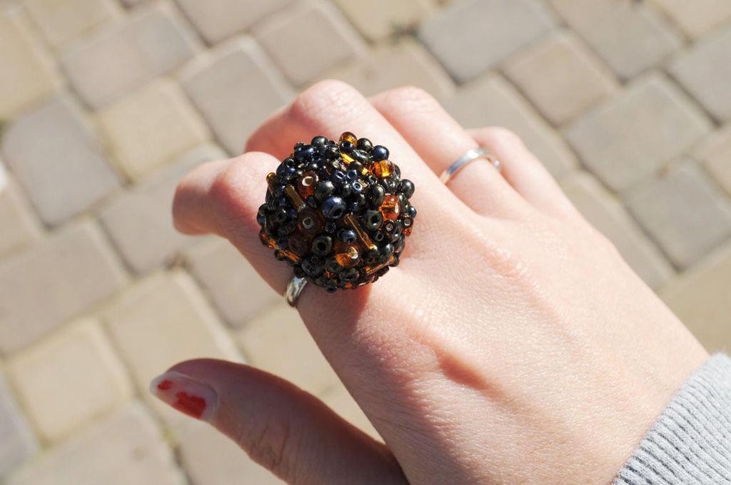Кольцо из бисера своими руками