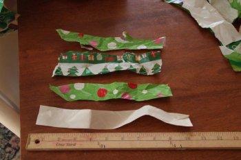 Венок из оберточной бумаги своими руками