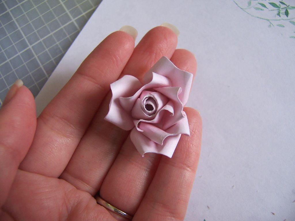Букет роз из бумаги