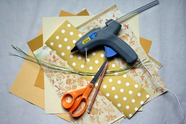Букет желтых роз из бумаги своими руками
