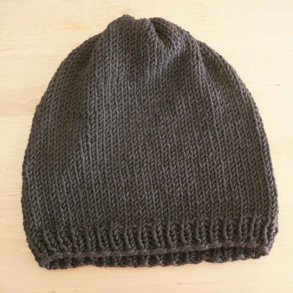 Как связать теплую шапку
