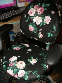 Обивка офисного кресла своими руками