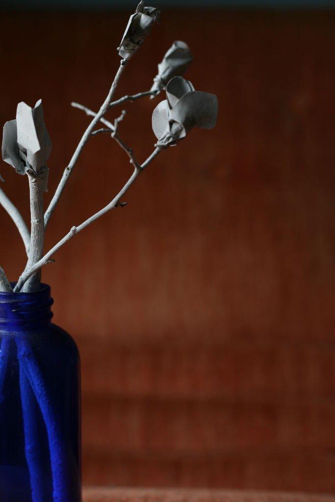 Бумажная цветочная ветвь своими руками