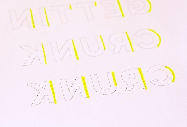 Открытка с объемными буквами