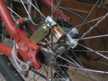 Светящиеся колеса велосипеда