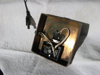 Стеклянный светильник своими руками