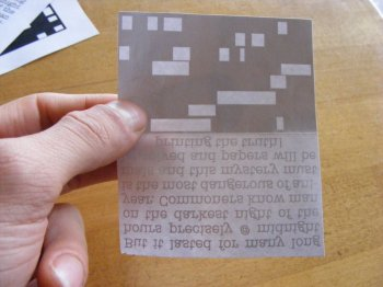 Шифровальная визитка с матричным кодом